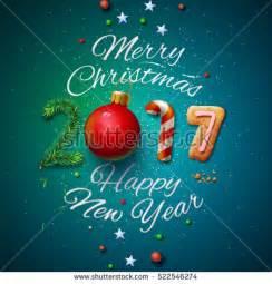 merry happy new year 2017 stock vector 522546274