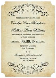sle invitation template free fall wedding invitation templates wedding