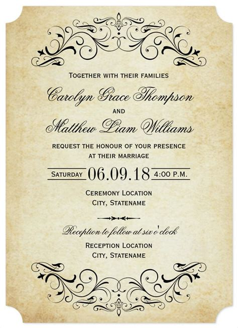 31 elegant wedding invitation templates free sle