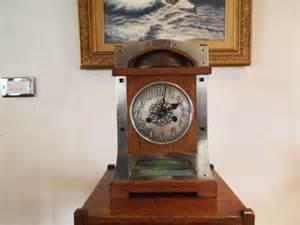 Cloverleaf Home Interiors Clock Arts And Crafts Oak Mantel Clock Libertys C1900
