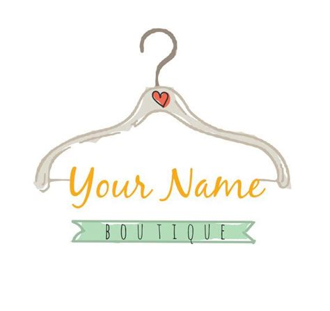design logo clothing pre made logo clothing hanger logo design embroidery