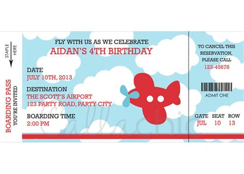 Free Aeroplane Birthday Invitation Printables Orderecigsjuice Info Airplane Birthday Invitation Template