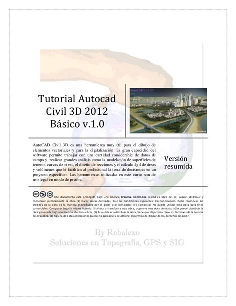 tutorial autocad civil 3d 2009 tutorial autocad civil 3d 2012 bc3a1sico v