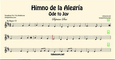 ode to joy violin piano himno de la alegr 237 a himno de la alegr 237 a partitura de soprano sax ode to joy en re mayor partitura en la descripci 243 n