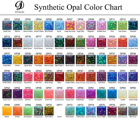 synthetic opal best quality 78 colors lab created