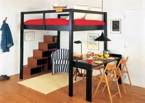Loft Bed Frame Queen Decoraci 243 N Camas Elevadas Buscar Con Google Small