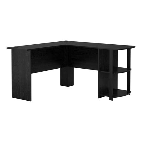 home depot desk l ameriwood home quincy black oak l shaped computer desk