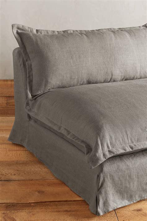 belgian linen sofa belgian linen tassa sofa anthropologie