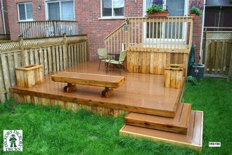 decks for small backyards 2 level decks for a small back yard this deck plan is