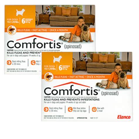 comfortis for dogs 5 10 lbs comfortis 270mg for cats 6 1 12 lbs dogs 10 20 lbs 12 pack orange vetdepot