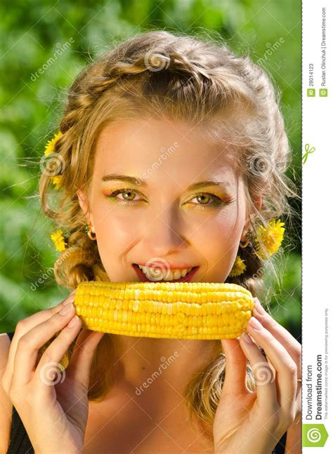 ate corn cob corn cob stock photos image 28014123