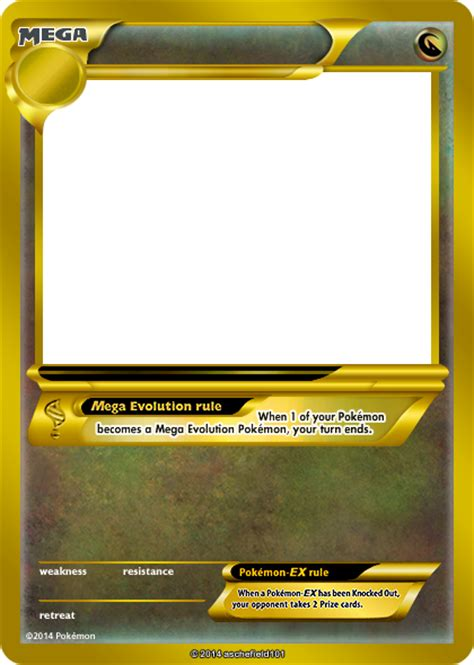 mega pokemon card blank template images pokemon images