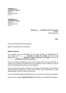 Resiliation De Compte Lettre Modele Resiliation Compte Joint Document