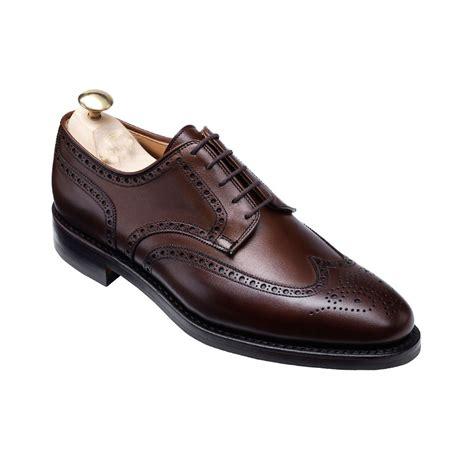 Mens Handmade Brogues - handmade wingtip brogue formal leather shoes