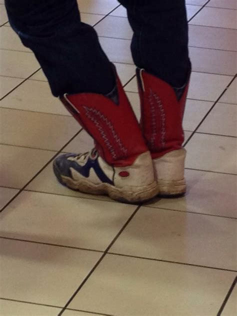 cowboy boot sneakers only in nebraska do you see cowboy boot sneakers bacon baron