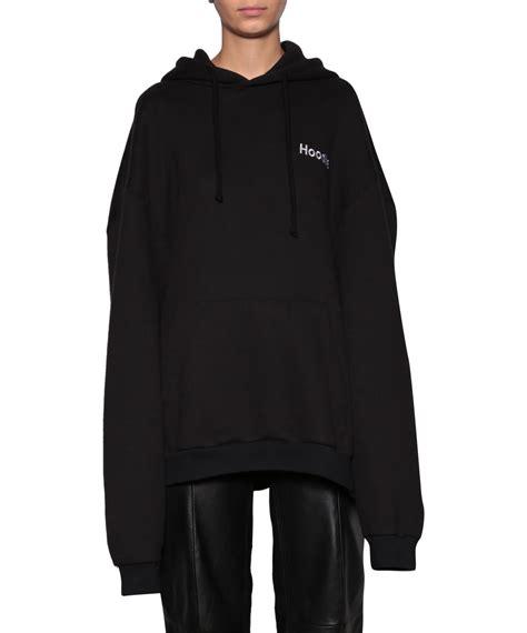 vetements black hoodie hooded sweatshirt lindelepalais com 48019