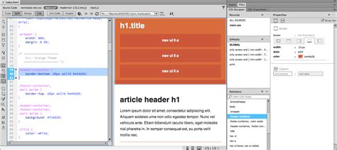 css tutorial header how to use css in dreamweaver adobe dreamweaver cc tutorials