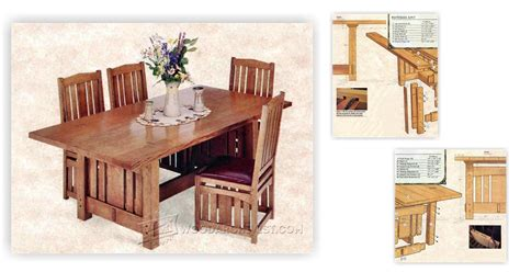 arts and crafts dining room table arts and crafts dining table plans woodarchivist