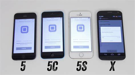 iphone 5 vs iphone 5s iphone 5s vs iphone 5c vs iphone 5 vs moto x benchmark