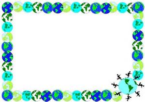 use this earthday themed lined paper and page borders