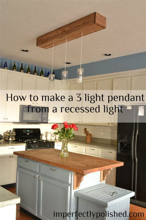 how to light a kitchen diy kitchen pendant lights how to change a recessed light