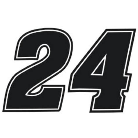 Car Sticker 24 by Nascar Racing 24 Vinyl Decal Sticker