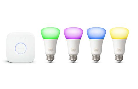 philips hue color lights hue white and color ambiance starter kit e26 046677471965