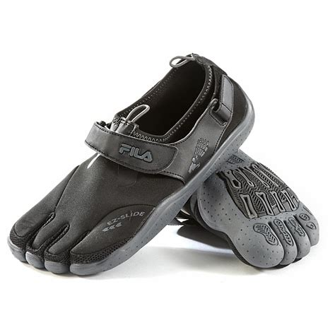 shoes with toes s fila 174 skele toes ez slide shoes black charcoal