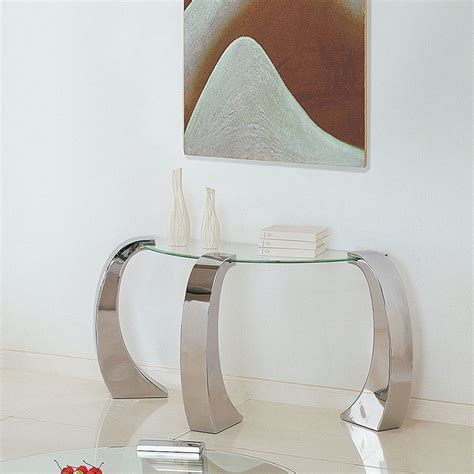 chrome and glass sofa table chrome sofa table with glass table top