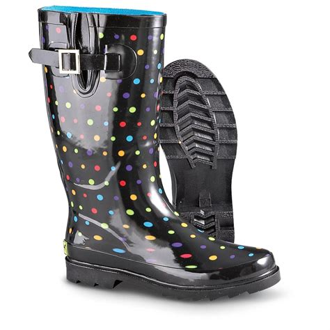s western chief 174 ditsy dots boots black dots