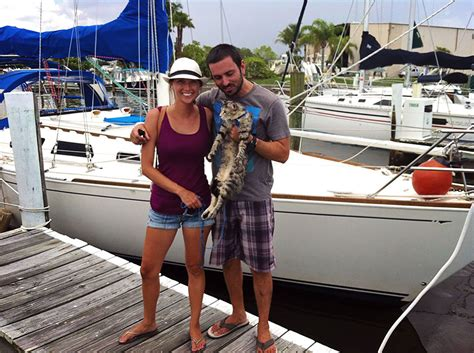 living on a boat jobs couple quits jobs and sells everything to travel the world