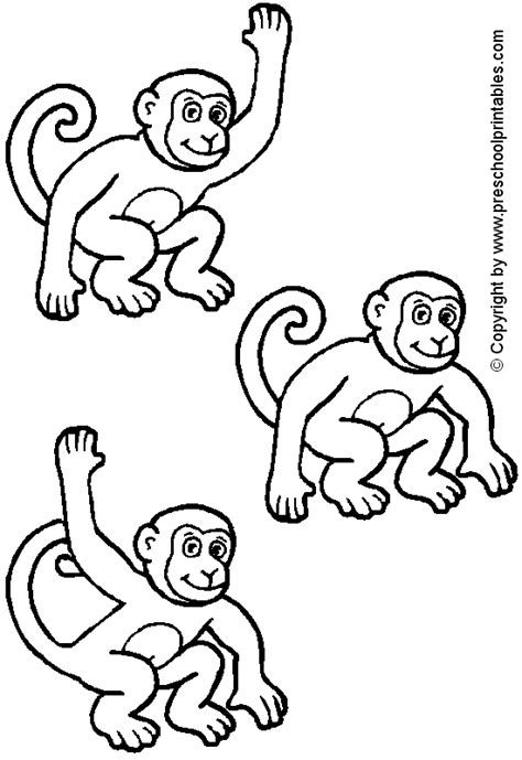 5 little monkeys coloring page coloring pages