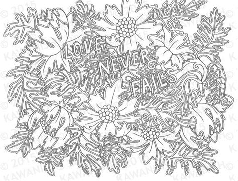 coloring pages wall art love never fails adult coloring page gift wall art bible