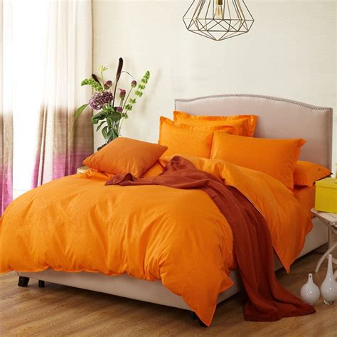 Orange Bedding Sets 4pcs Size Contemporary Comforters Quilts And Comforters Orange Bedding Comforter Sets