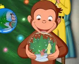 curious george monkey christmas movie night