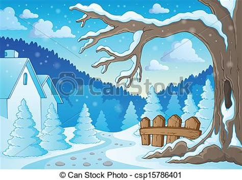 theme line winter winter tree theme image 2 eps10 vector illustration
