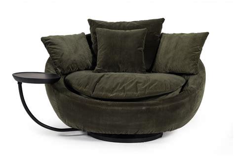divani casa pascal modern  green velvet swivel lounge