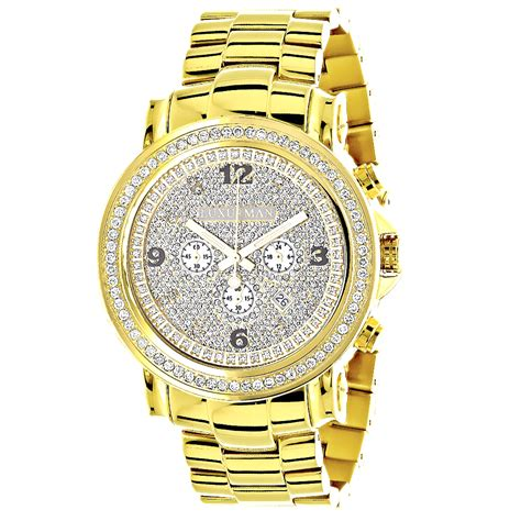 iced out luxurman large bezel for yellow