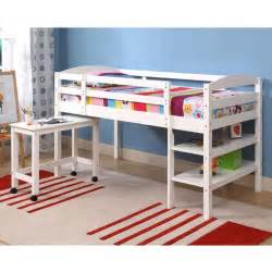 White Bunk Bed With Desk Bed Solid Wood White Size Loft Bed With Desk Detode