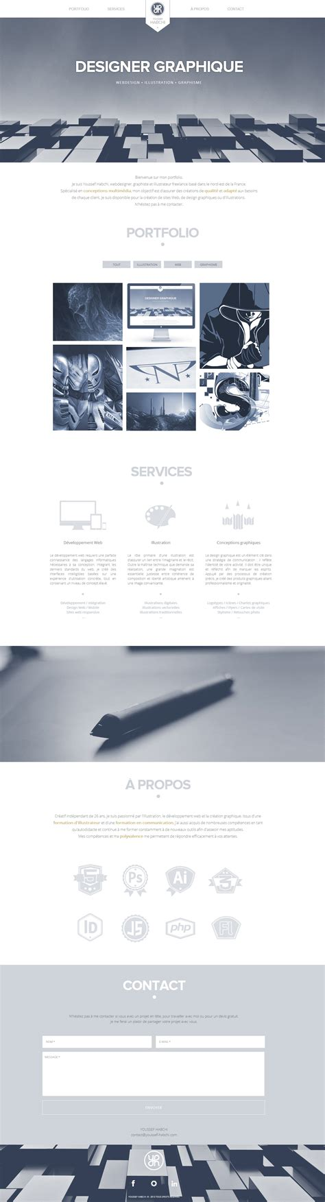 youssef habchi one page website award
