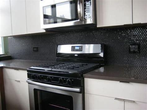 black tiles kitchen indelink com 28 creative penny tiles ideas for kitchens digsdigs