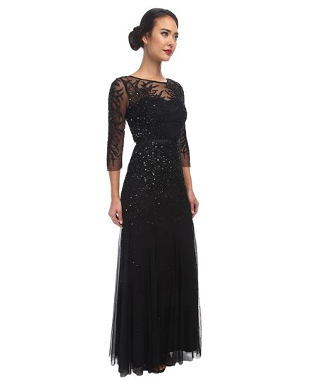 black beaded gown beaded v neck gown papell bridesmaid