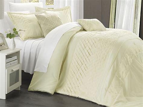 carina comforter set carina 5 piece pleated comforter set