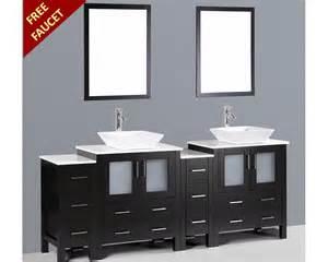 84in square vessel sink vanity by bosconi boab230s2s