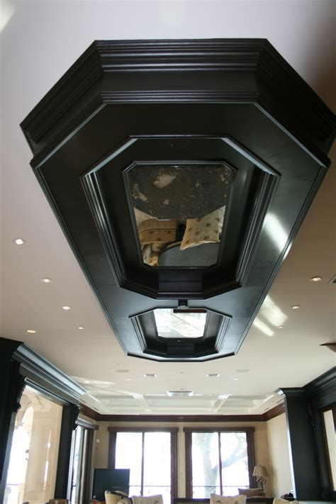 Inlay Ceiling Coffered Ceiling With Mirror Inlay Allservices Frameless