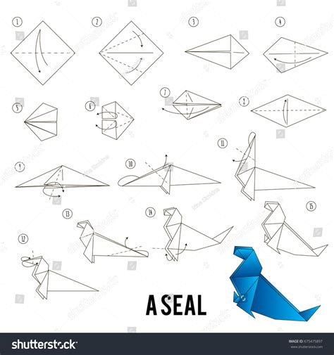 How To Make A Paper Seal - step by step how make stock vector 675475897