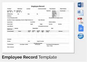 employee record form template employee record templates 32 free word pdf documents