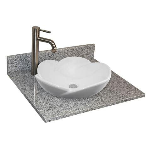 semi recessed bathroom 25 quot x 22 quot granite vanity top for semi recessed bathroom