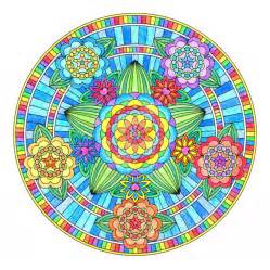 colored mandala flowers of mandala colored by hippie on
