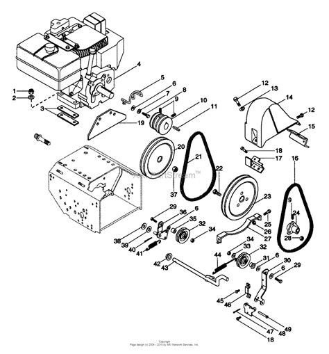 ariens parts diagrams ariens 924082 000101 011144 st824 8hp tec 24
